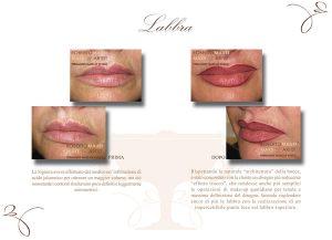 Trucco peranente labbra make up