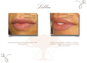 Trucco semipermanente labbra ridefinizione contorno
