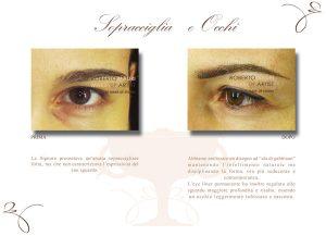 Trucco semipermanente sopracciglia occhi trattamento