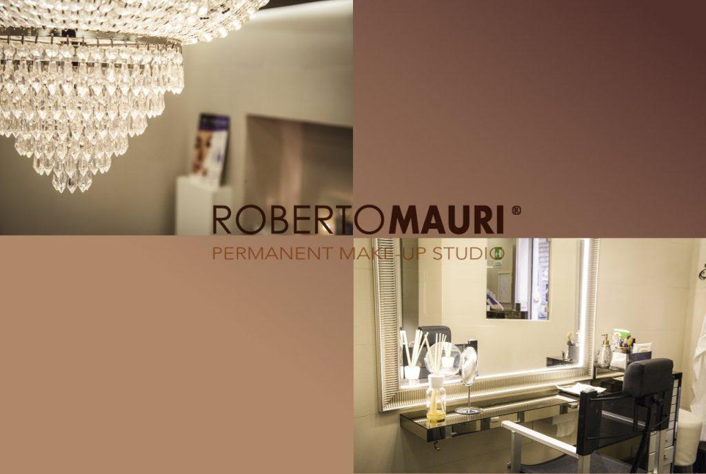 Postazione di trucco permanente nello studio Roberto Mauri a Roma