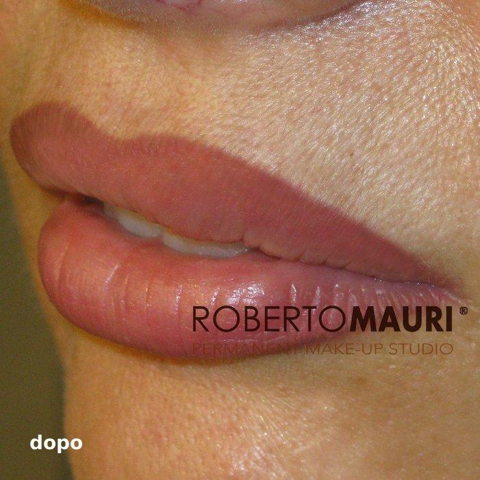 Trucco permanente: sfumatura effetto rossetto prima del trattamento